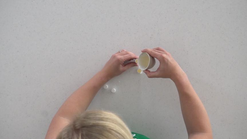 Pour into lip balm tubes