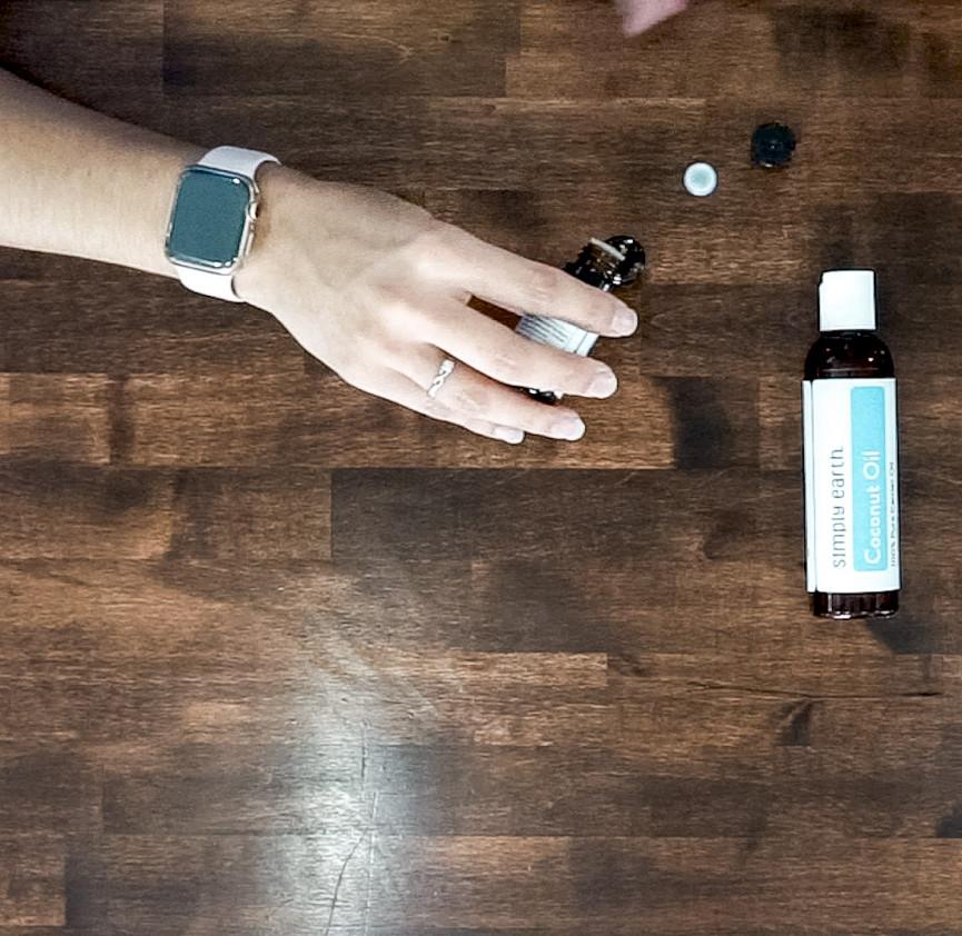 Add Sweet Dreams essential oil blend to roll-on bottle