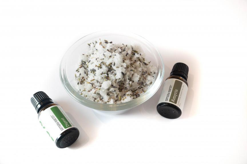 Bath soak with Amyris and Digest essential oils.
