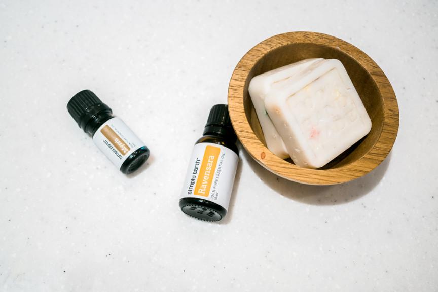 Essential oil massage bar