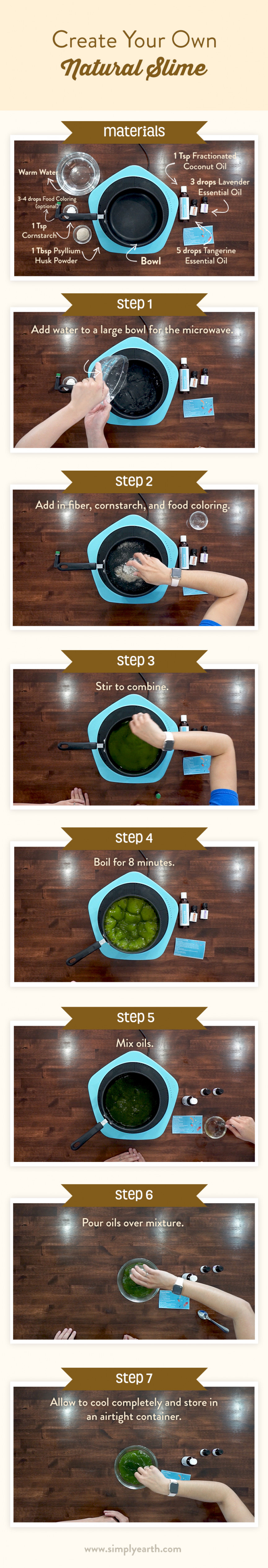 Natural slime recipe