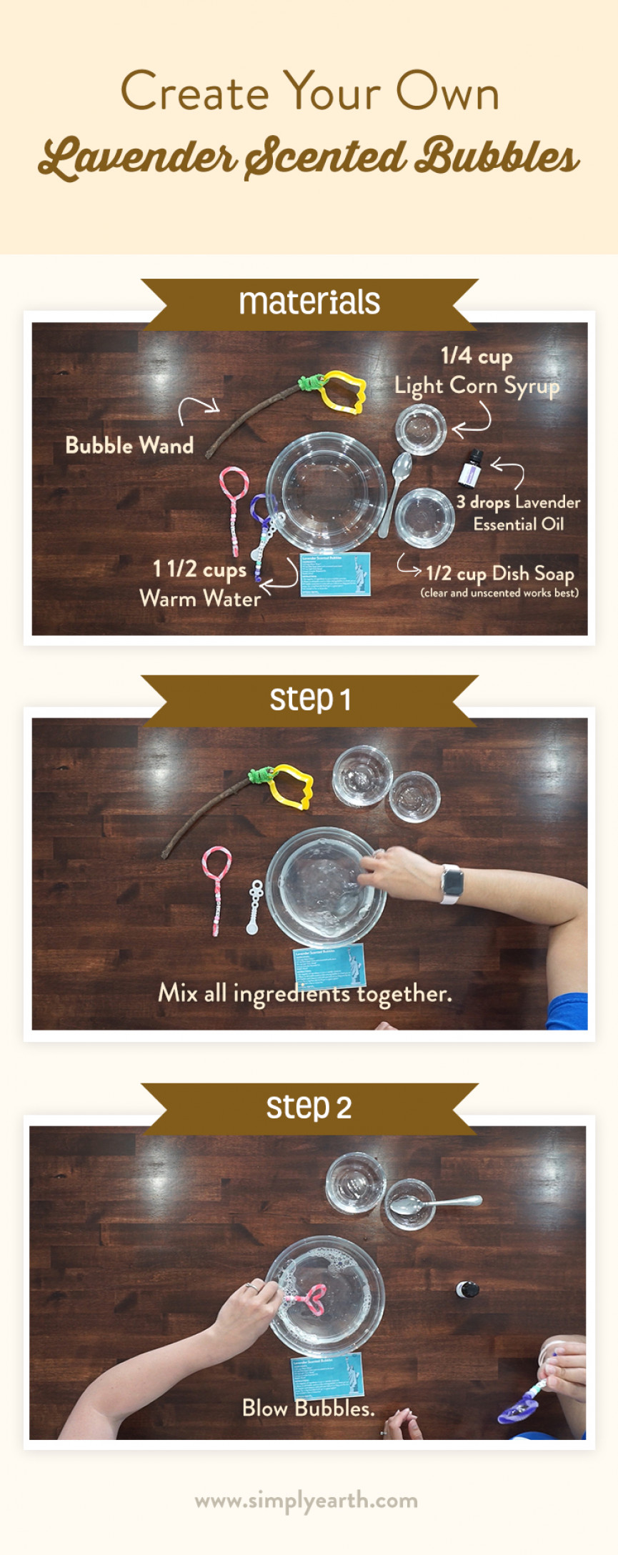 Lavender Scented Bubbles recipe