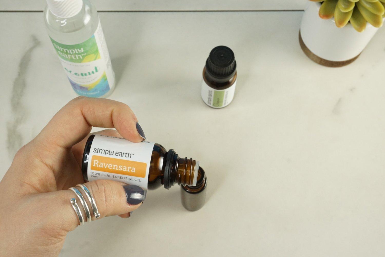 Add Ravensara essential oil