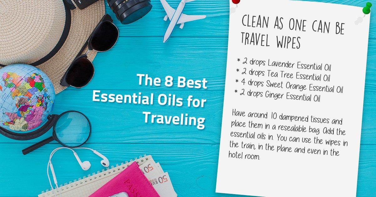 essential oil travel wipes recipe