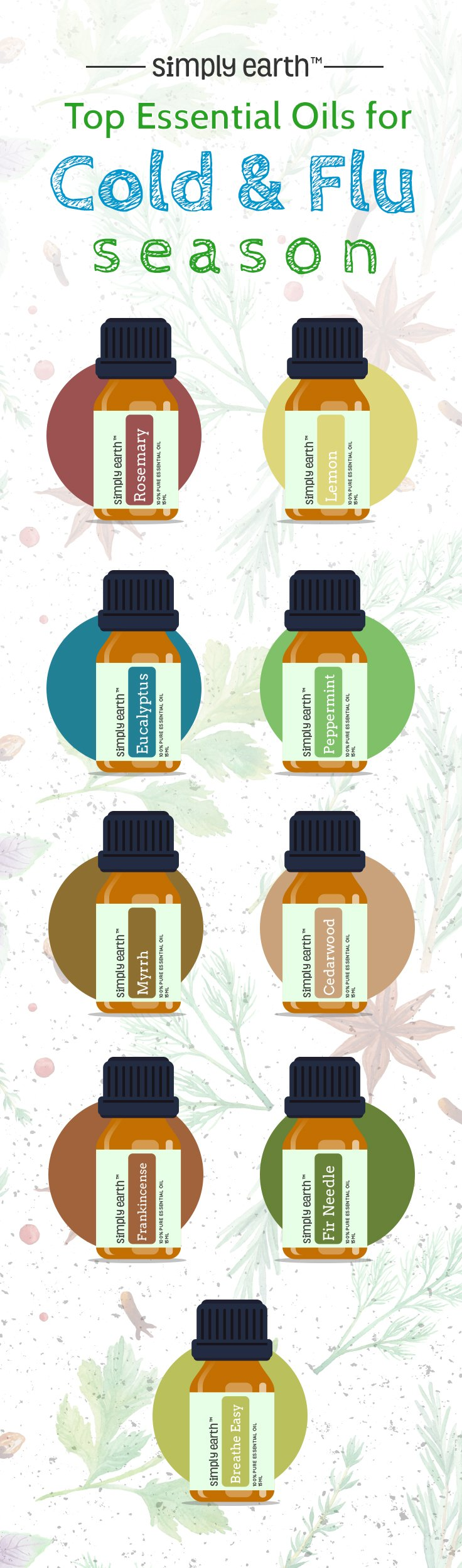 top nine essential oils for cold and flu season