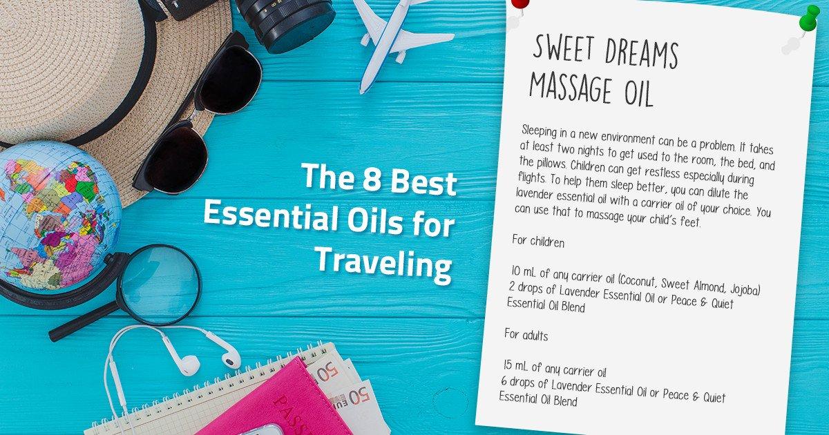 travel massage oil essential oil recipe