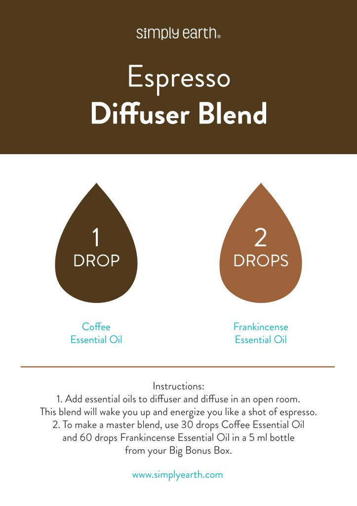 Espresso Energizing Essential Oil Blend Simply Earth Blog