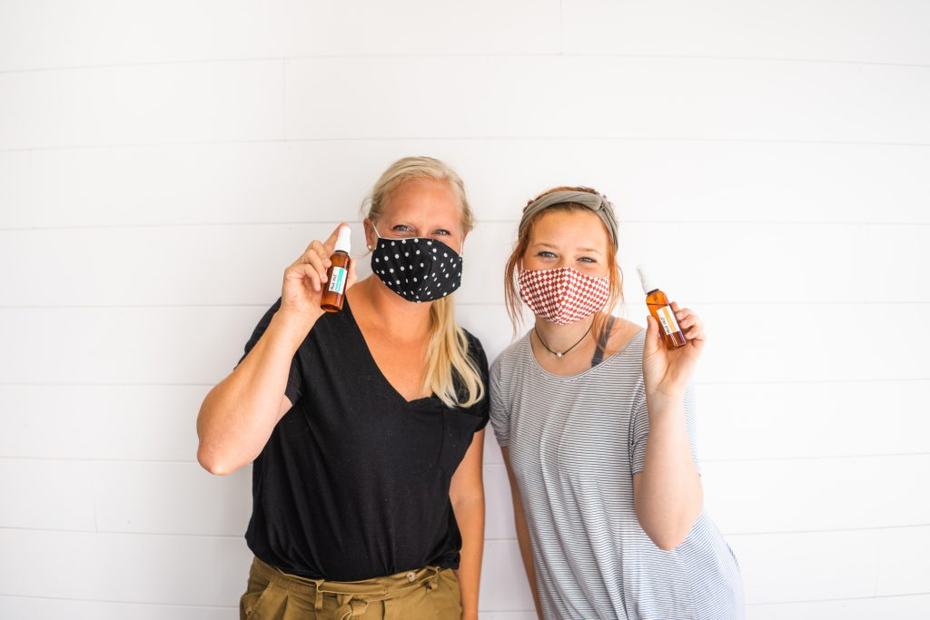 face mask mist