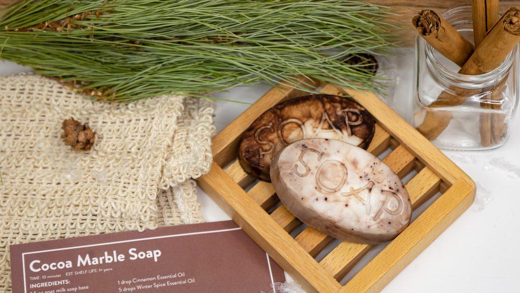 diy soap, Cocoa Marble Soap